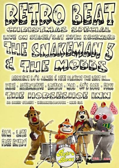 2013-12-28 The Snakeman 3 & The Mobbs Live Wellingborough Horseshoe